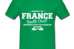 T shirt France South Coast Property HVR