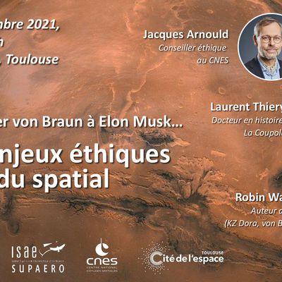De Wernher von Braun à Elon Musk : une conférence sur les enjeux éthiques du spatial