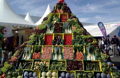 Une pyramide de légumes.