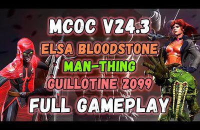 V24.3 Elsa Bloodstone, Guillotine 2099 & L'homme Chose Full Gameplay !