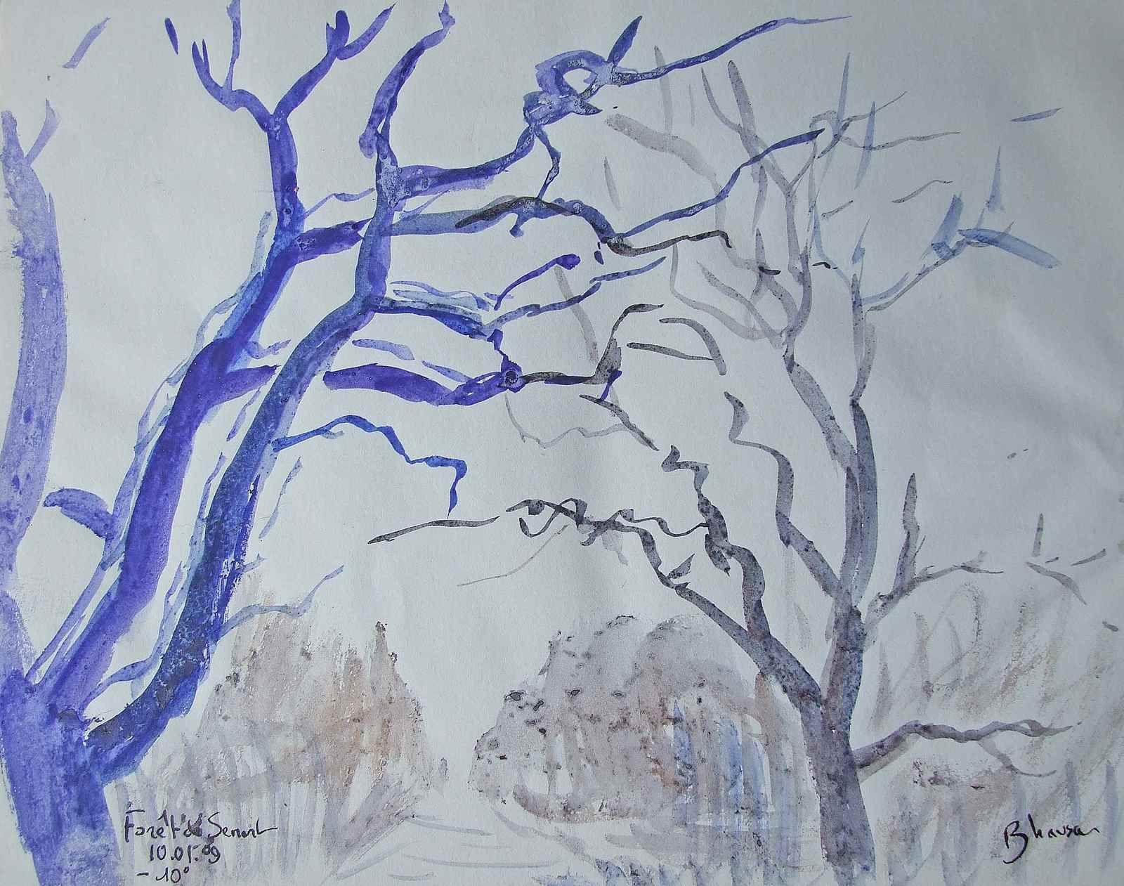 Les arbres sont de vieux compagnons de ma vie de peintre. Je les ai toujours dessinés et peints avec tendresse et plaisir partout où je suis allé.