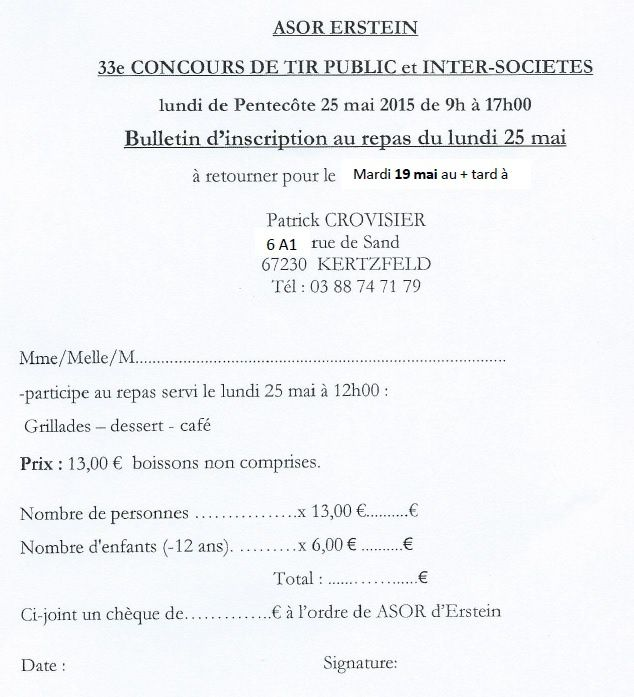CONCOURS DE TIR PUBLIC ERSTEIN