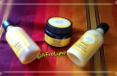 Le trio à la banane de The Body Shop