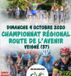 Championnat régionale de l'Avenir le 4 octobre à Veigné (37)