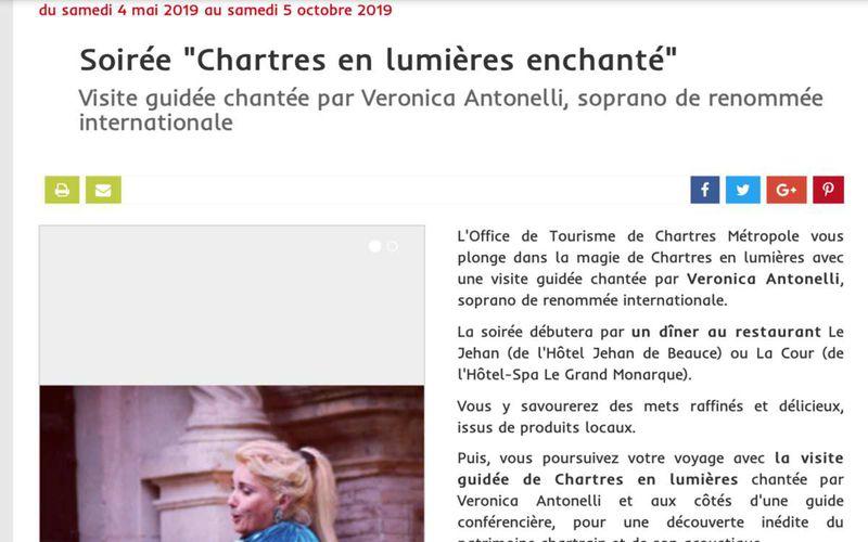 """Loisiramag """"Soirée Chartres en lumières enchanté"""""""