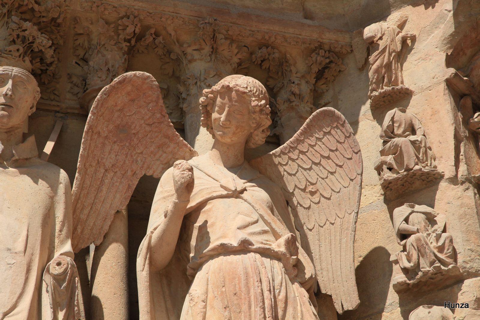 Cathédrale de Reims, l'ange au sourire