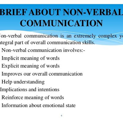 Briefly about nonverbal communication