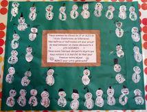 Les CP de l'école Chantereine au Marché de Noël à Les Voivres
