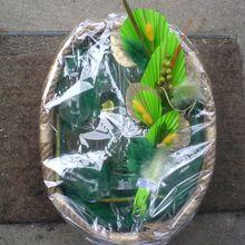895- Emballage pour anniversaire  (coffret Williamine : motif pêche)