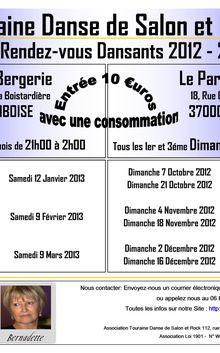 Nos Rendez-vous Dansants 2012-2013