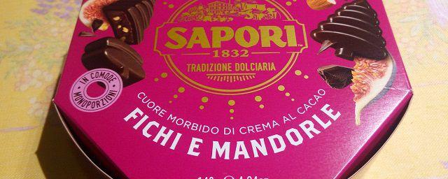"""Cioccolatini con fichi e mandorle """"Sapori"""" - Prova assaggio"""