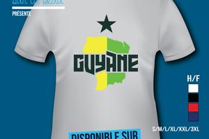 T-shirt France: Guyane 973 - Écusson.