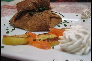 Aumonières au saumon fumé et sa chantilly citronnée