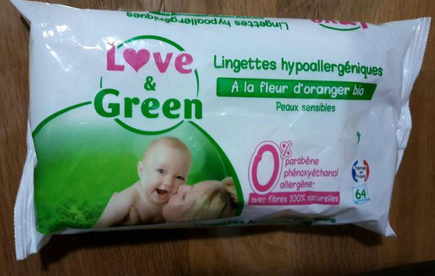 Lingettes Love and Green