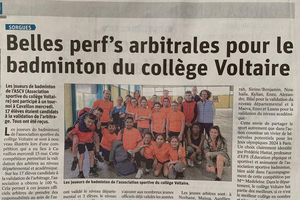 Vaucluse matin du 18 mai 2019 : Badminton