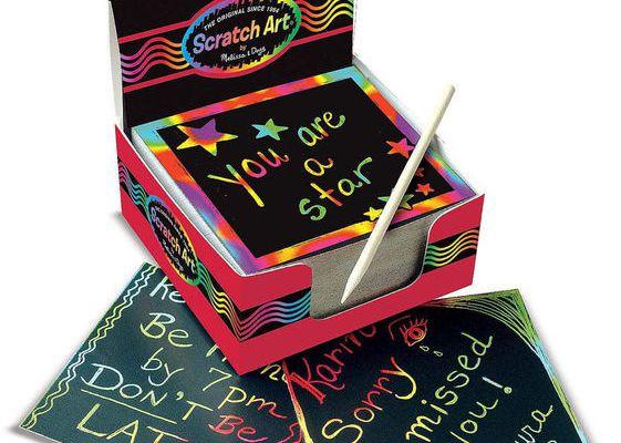 "Bloc de cartes à gratter ""scratch art"""