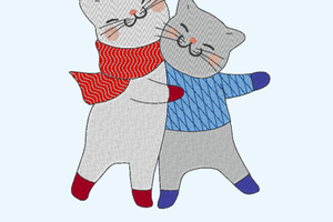 ALC-Broderie Chats amis