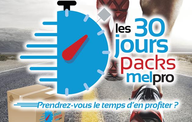 Découvrez l'opération Les 30 jours Packs Melpro !