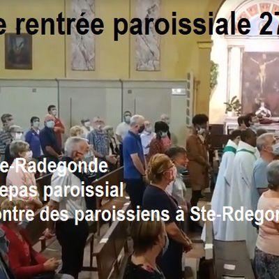 Journée de rentrée paroissiale - 27 septembre 2020