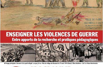 Une journée d'études sur l'enseignement des violences de guerre le 17 octobre à l'ESPE