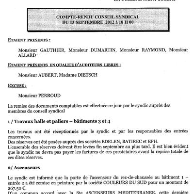 120913 - COMPTE-RENDU CS DU 13 SEPTEMBRE 2012 à 18 H 00