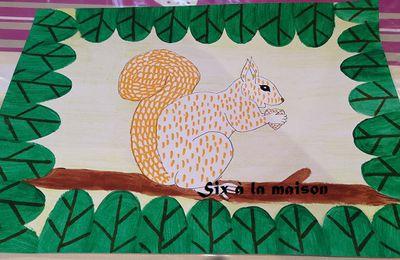 Un écureuil dans la forêt