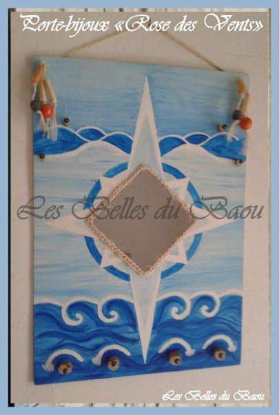 """Porte-bijoux modèle """"Rose des vents"""""""