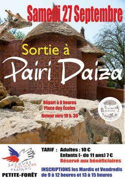 Sortie à Pairi Daiza pour les bénéficiaires du SECOURS POPULAIRE