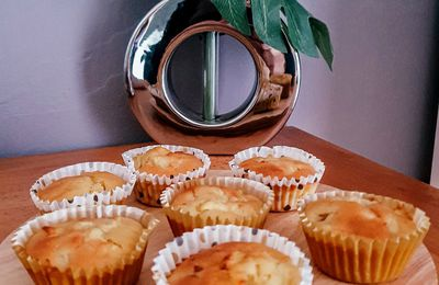 Muffins pomme, poire amande