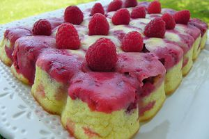 MOELLEUX COCO FROMAGE BLANC ET FRAMBOISES (thermomix)