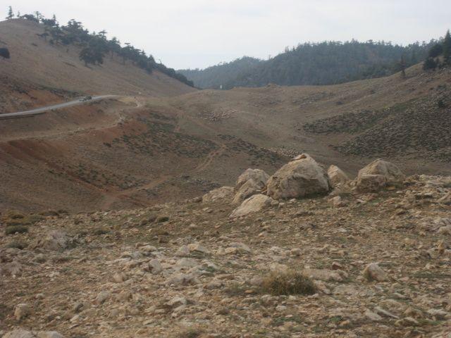 De Midelt à Fes, la route nous fait traverser des plaines désertiques et des cols de plus de 2000 mètres d'altitude.Au passage,  nous saluons les singes de la forêt des cèdres