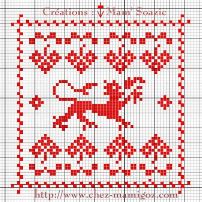 SAL : Plaid Broderie Rouge... Grilles supplémentaires