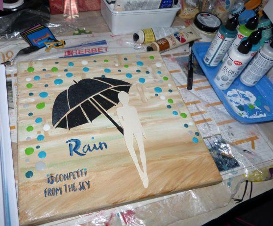 Blob Paint , des bulles de pluie dans une toile