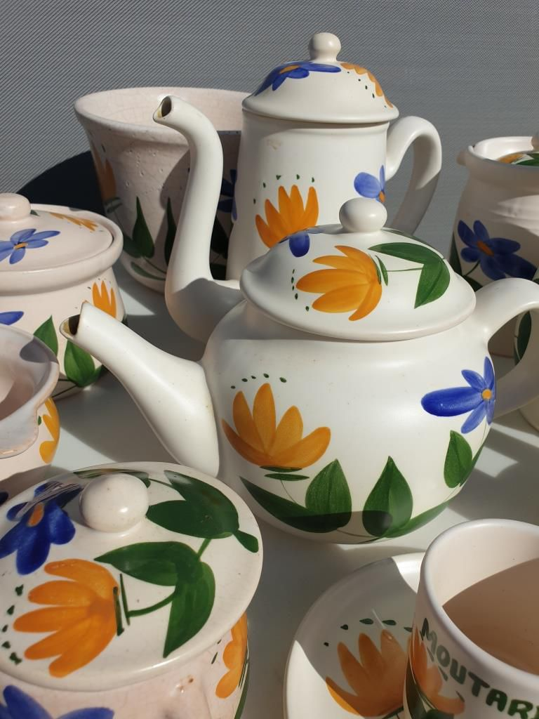 Set 11 pièces vintages 1960 Poteries du Marais - vendu