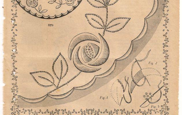 Broderie à l'ancienne : les roses