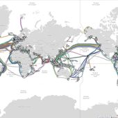 Global Internet map / Submarine Cable Map 2018 - OOKAWA Corp.