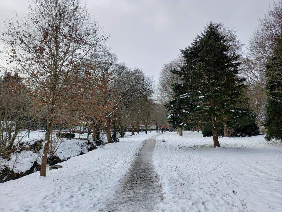 Neige sur Saint-Brieuc