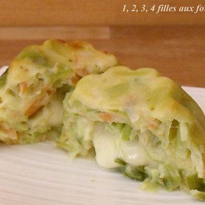 Moelleux poireau / saumon / mozzarella