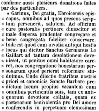 Saint-Germain-de-Pasquier sous la plume d'Auguste Le Prévost, ici dans ses Mémoires et notes publiées en 1869.