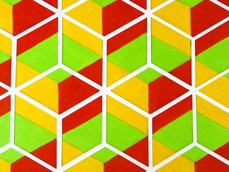 Illusion - Acrylic and papercut