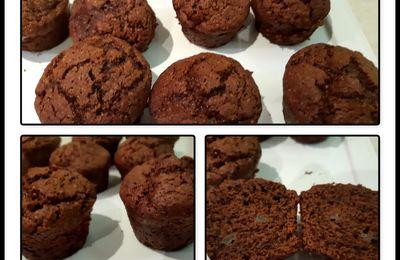Muffins choco poire