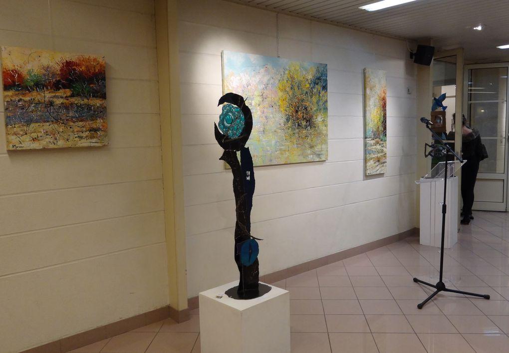 Aniko, sculpteur métal et peintre et Alain Moreau, peintre au Centre Jean Hardouin Du jeudi 1er au vendredi 16 décembre 2011.