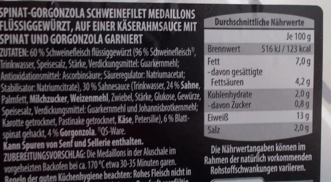 [Aldi] Gourmet Spinat-Gorgonzola Schweine-Medaillons