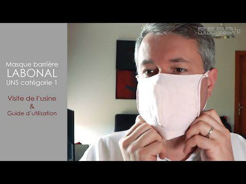 Le masque textile MADE in FRANCE que propose LABONAL ! Inédit, original et insolite