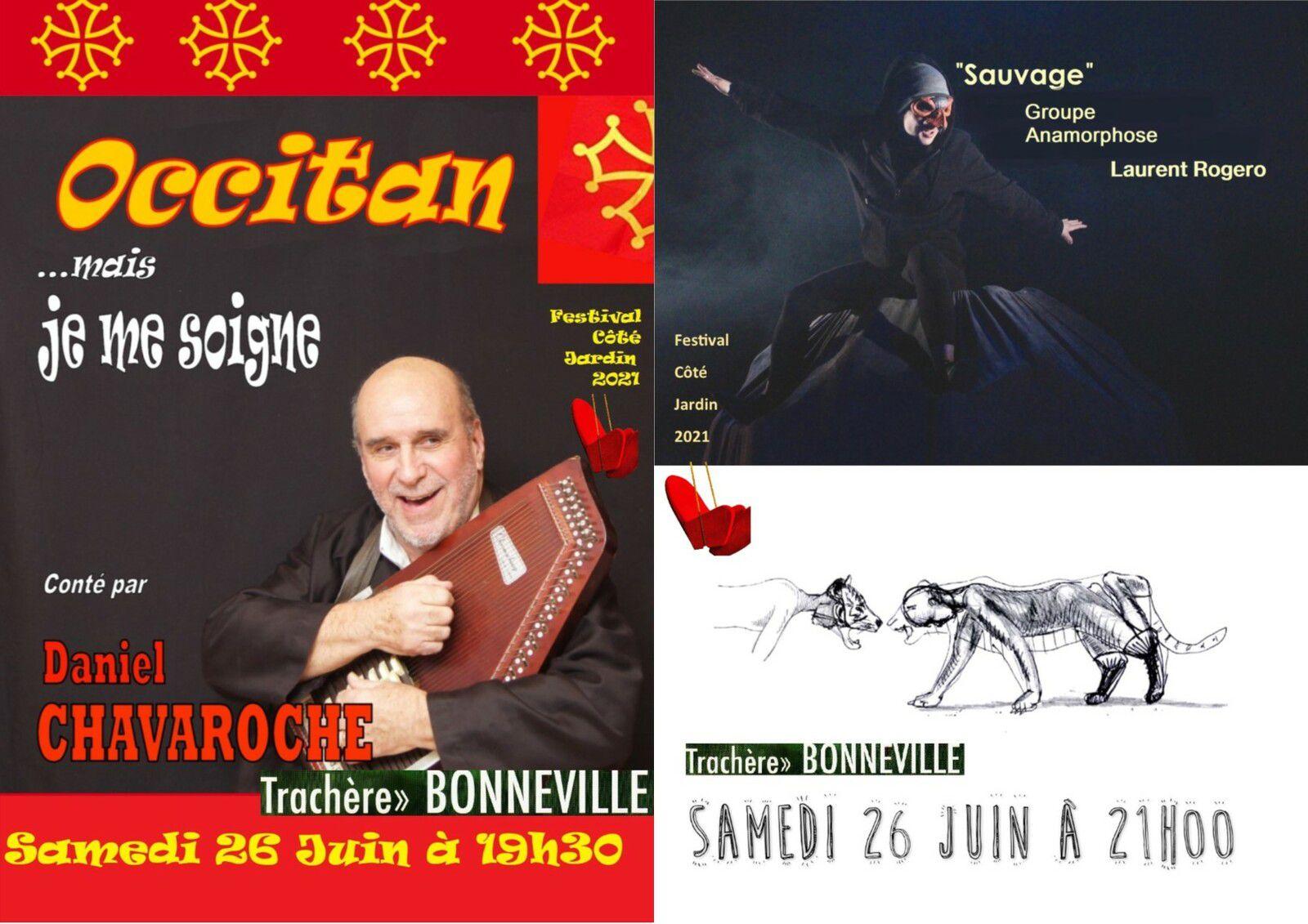 Suite et fin des Spectacles du Samedi 26 Juin : Daniel Chavaroche et Le Groupe Anamorphose