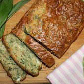 Cake moelleux à l'ail des ours, au chèvre et aux graines - MON MARAÎCHER A LA CASSEROLE