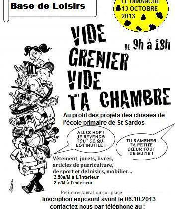 SAINT SARDOS : VIDE GRENIER - VIDE TA CHAMBRE
