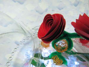 Décoration de table - Menu - Cloche - Amour - Saint Valentin - 2019 - Scan N Cut - CM600 - Coeur - Fleurs - Belle et la Bête - Roses - Fait maison