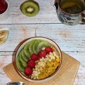 Porridge au curcuma et aux fruits ( pour 1 pers) - Chez Vanda