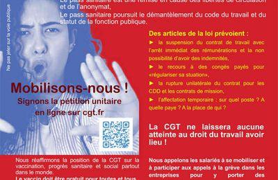 CGT VAR : NON au Pass sanitaire macronien